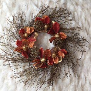 Gilded Autumn Magnolia Wreath